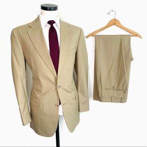 NEW Brooks Brothers Lightweight Khaki Tan Suit